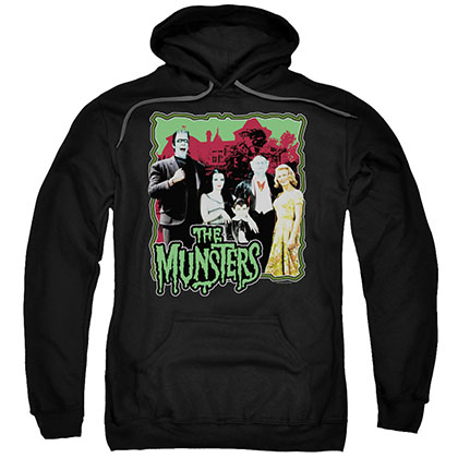 Munsters Normal Family Black Pullover Hoodie