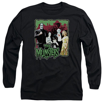 Munsters Normal Family Black Long Sleeve T-Shirt