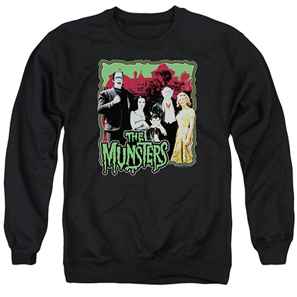 Munsters Normal Family Black Crew Neck Sweatshirt
