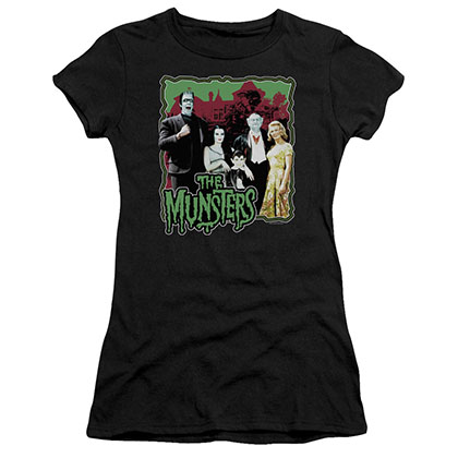 Munsters Normal Family Black Juniors T-Shirt