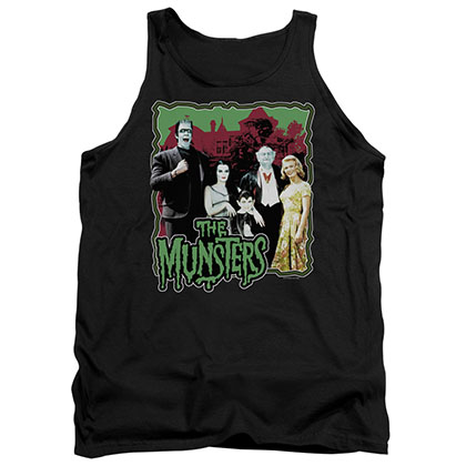 Munsters Normal Family Black Tank Top