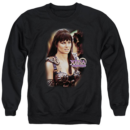 Xena Warrior Princess Black Crew Neck Sweatshirt