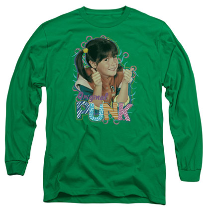 Punky Brewster Original Punk Green Long Sleeve T-Shirt