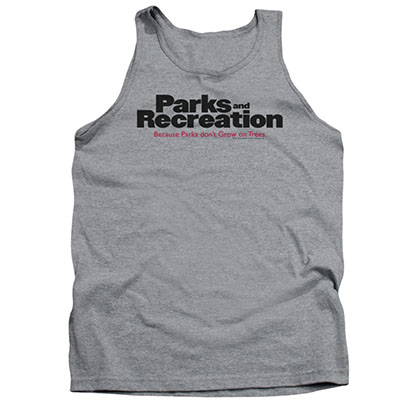 Parks And Recreation Logo Gray Tank Top