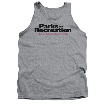 Parks & Recreation Men's Gray Show Logo Tank Top
