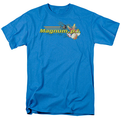 Magnum Pi Hawaiian Life Blue T-Shirt