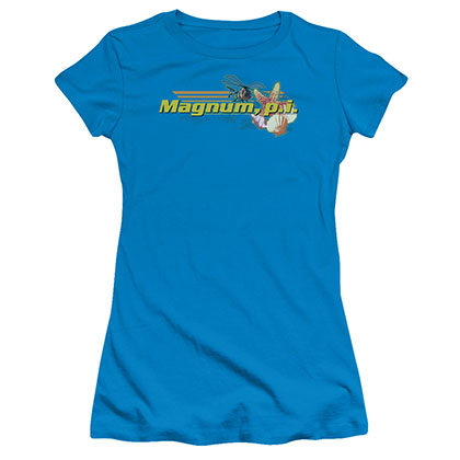 Magnum Pi Hawaiian Life Blue Juniors T-Shirt