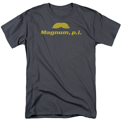Magnum Pi The Stache Gray T-Shirt