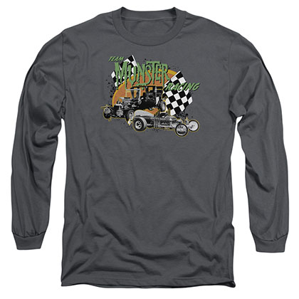 The Munsters Munster Racing Gray Long Sleeve T-Shirt