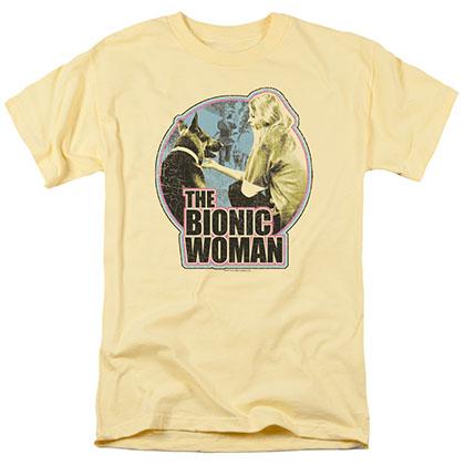 Bionic Woman Jamie & Max Yellow T-Shirt
