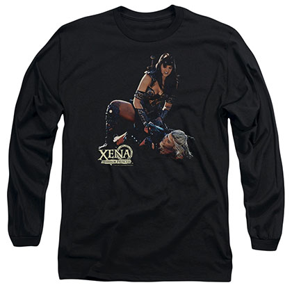 Xena In Control Black Long Sleeve T-Shirt