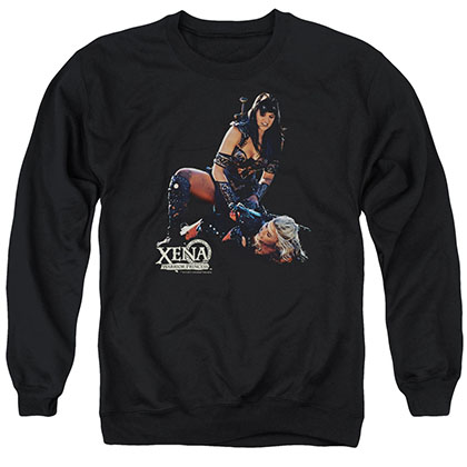 Xena In Control Black Crew Neck Sweatshirt
