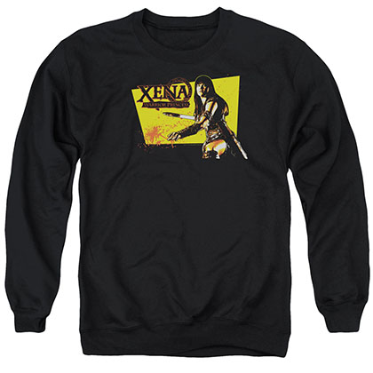 Xena Cut Up Black Crew Neck Sweatshirt
