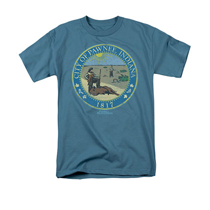 Parks & Recreation Distressed Pawnee Seal Blue Tee Shirt