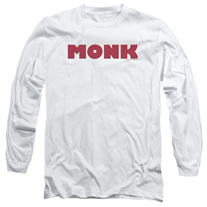 Monk Logo White Long Sleeve T-Shirt