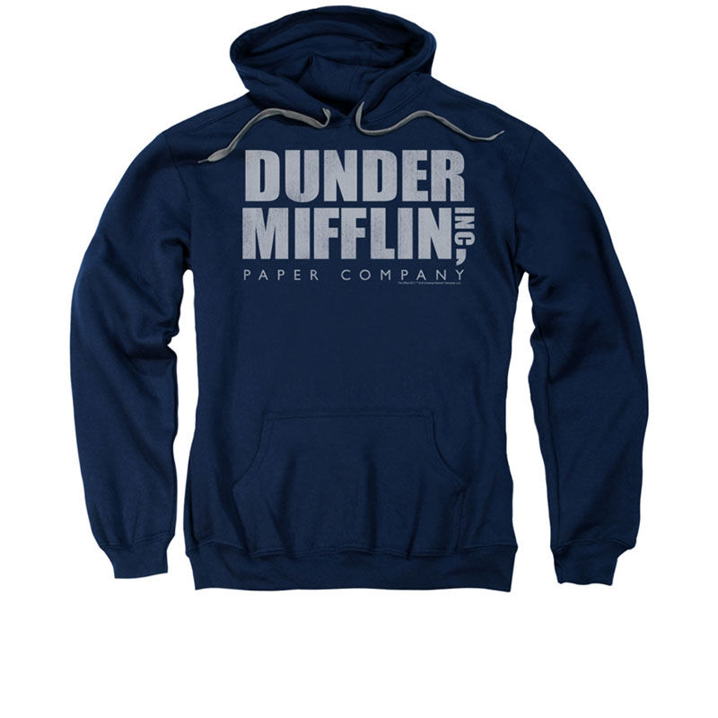The Office Dunder Mifflin Blue Pullover Hoodie