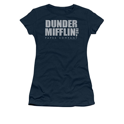 The Office Dunder Mifflin Blue Juniors T-Shirt