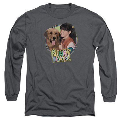 Punky Brewster Punky & Brandon Gray Long Sleeve T-Shirt