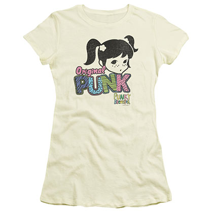 Punky Brewster Punk Gear Beige Juniors T-Shirt