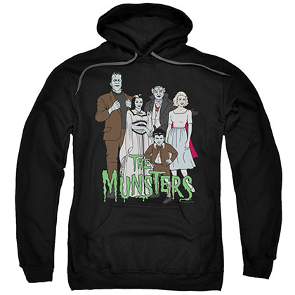 The Munsters The Family Black Pullover Hoodie