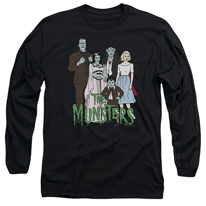 The Munsters The Family Black Long Sleeve T-Shirt