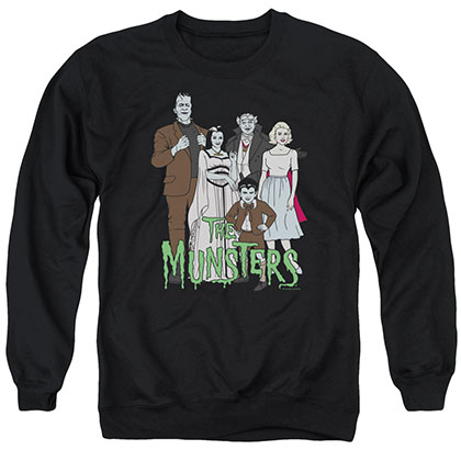 The Munsters The Family Black Crew Neck Sweatshirt