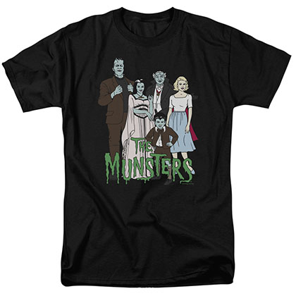 The Munsters The Family Black T-Shirt