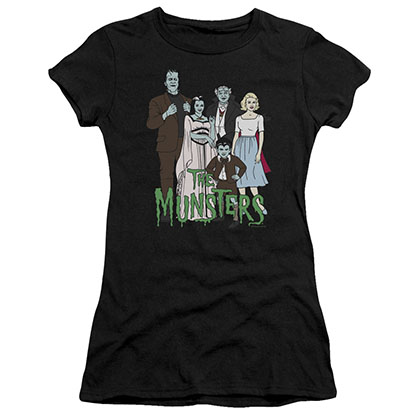 The Munsters The Family Black Juniors T-Shirt