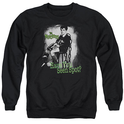 The Munsters Have You Seen Spot Black Crew Neck Sweatshirt