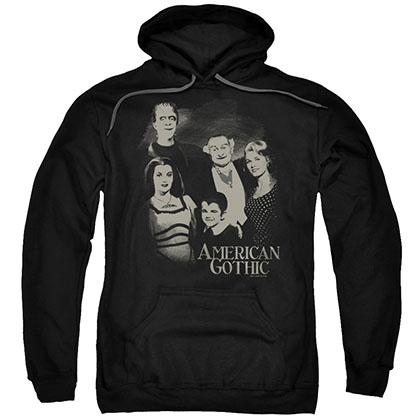 The Munsters American Gothic Black Pullover Hoodie