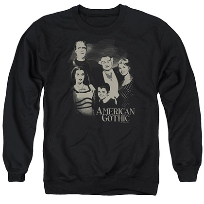 The Munsters American Gothic Black Crew Neck Sweatshirt