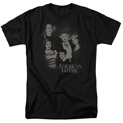 The Munsters American Gothic Black T-Shirt