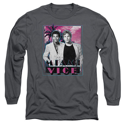 Miami Vice Gotchya Gray Long Sleeve T-Shirt