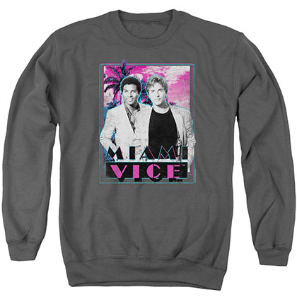 Miami Vice Gotchya Gray Crew Neck Sweatshirt
