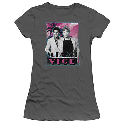 Miami Vice Gotchya Gray Juniors T-Shirt