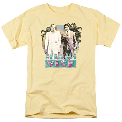 Miami Vice 80's Love Yellow T-Shirt