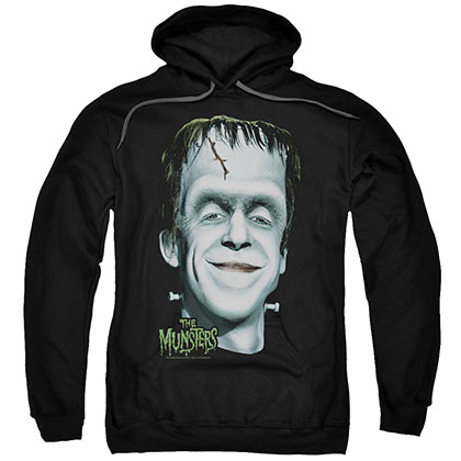 The Munsters Herman'S Head Black Pullover Hoodie