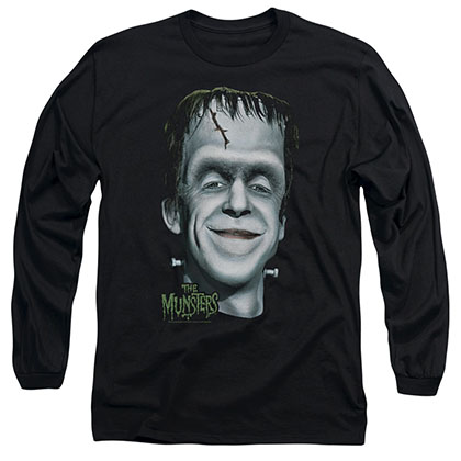 The Munsters Herman's Head Black Long Sleeve T-Shirt