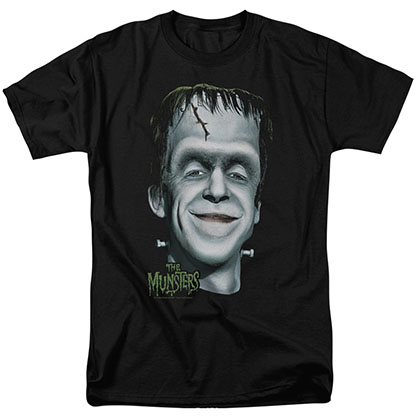 The Munsters Herman's Head Black T-Shirt
