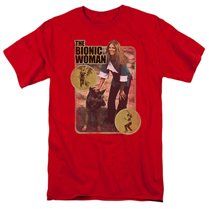 Bionic Woman Jamie And Max Red T-Shirt