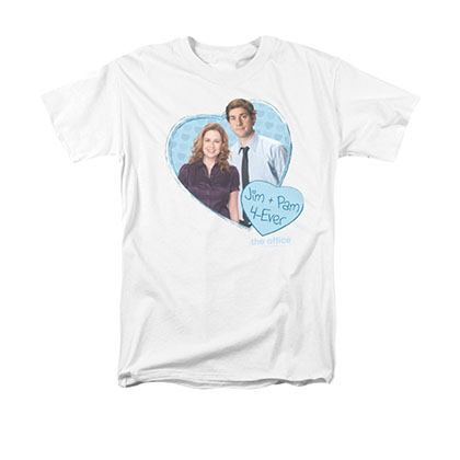 The Office Jim Pam White T-Shirt