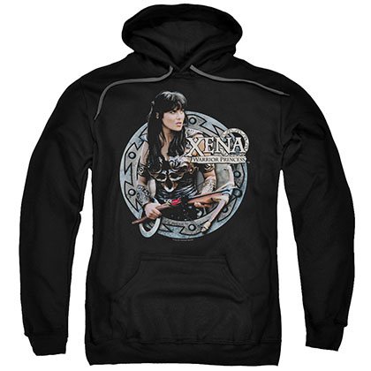 Xena The Warrior Black Pullover Hoodie