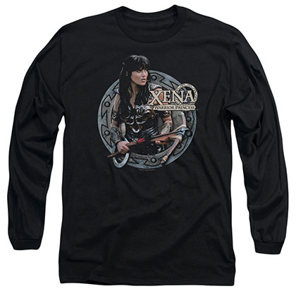 Xena The Warrior Black Long Sleeve T-Shirt