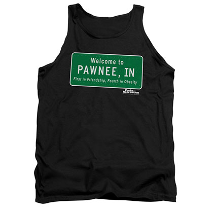 Parks & Recreation Men's Black Welcome To Pawnee Tank Top