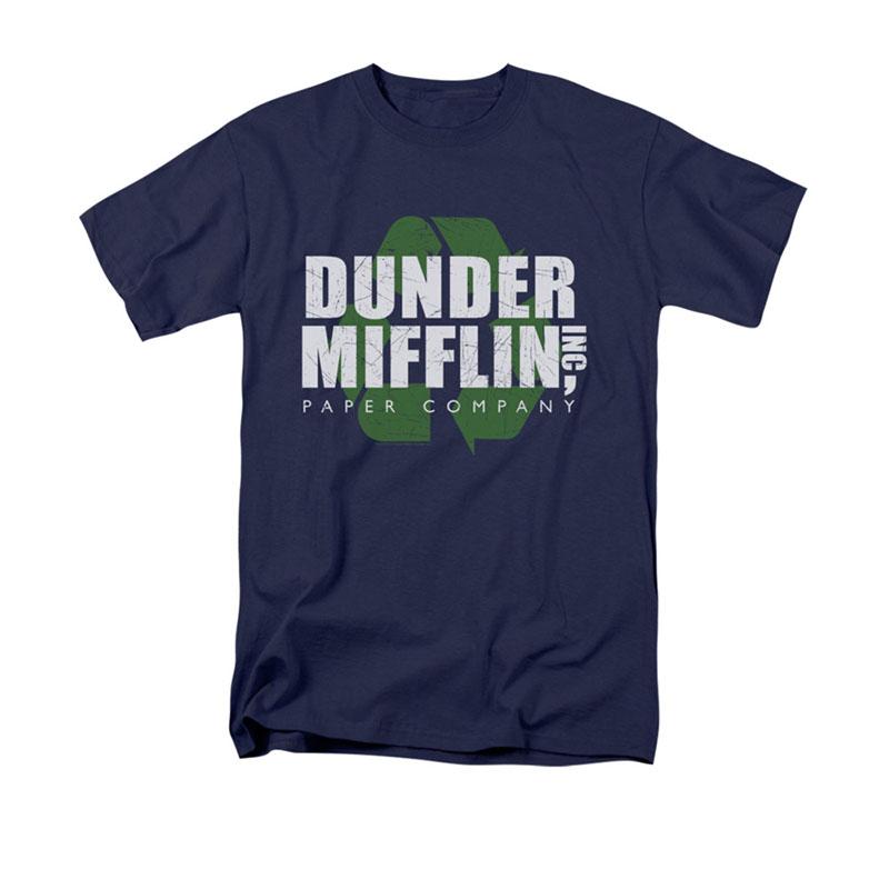 2e18dcce65d5 The Office TV Show Dunder Mifflin Paper Mens Royal Blue T-Shirt ...