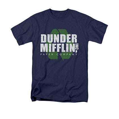 The Office Dunder Mifflin Recycle Blue T-Shirt