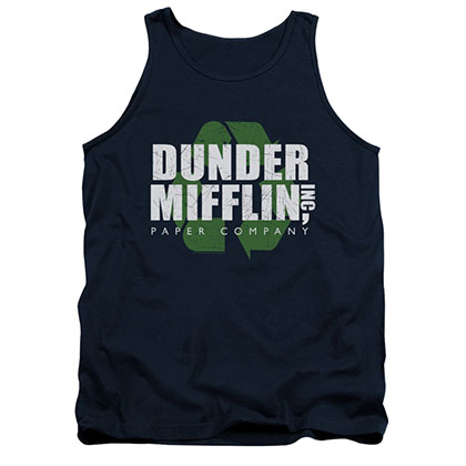 The Office Dunder Mifflin Recycle Blue Tank Top