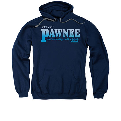 Parks And Recreation City Of Pawnee Blue Pullover Hoodie