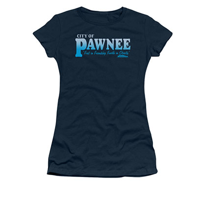 Parks & Recreation Juniors Blue City Of Pawnee T-Shirt