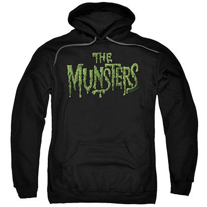 Munsters Distress Logo Black Pullover Hoodie